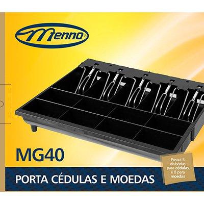 Porta cédulas e moedas c/prendedor metálico MG40 Menno CX 1 UN