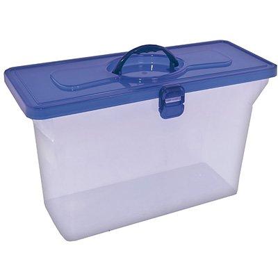 Maleta organizadora empilhável c/ tampa azul 0331 Dello PT 1 UN
