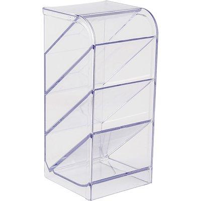 Organizador de escritório quádruplo cristal 10330018 Waleu CX 1 UN