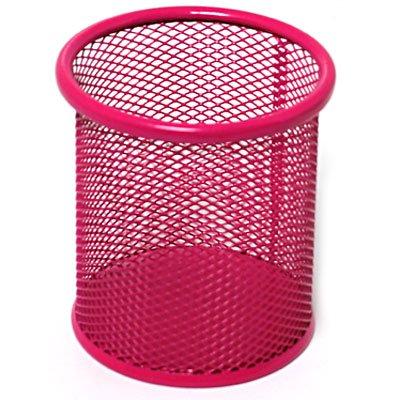 Porta lápis aramado rosa B8802 Spiral Office PT 1 UN