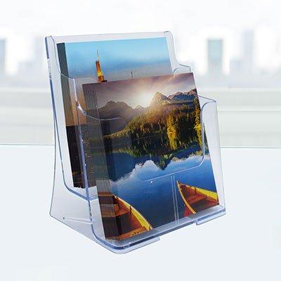 Porta folheto de mesa duplo 77221AS Spiral Office PT 1 UN