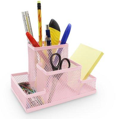 Organizador de mesa aramado rosa pastel B83-318 Spiral Office PT 1 UN