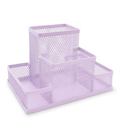 Organizador de mesa aramado lilás pastel B83-318 Spiral Office PT 1 UN