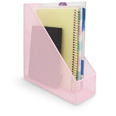 Porta revista aramado rosa pastel B83200 Spiral Office PT 1 UN