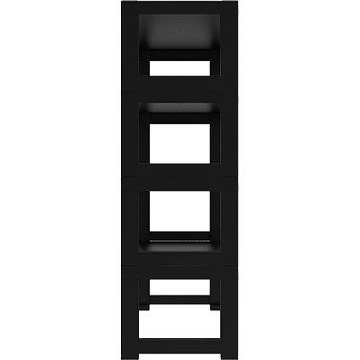 Estante plástica c/4 prateleiras Demi preta 23235 Grifit PT 1 UN