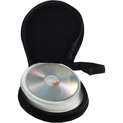Porta Cd/Dvd p/24 cds laminado sintético marrom/azul 2980 Levox PT 1 UN