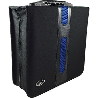 Porta Cd/Dvd p/128 cds poliéster/pvc preto e azul 2984 Levox PT 1 UN