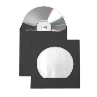 Envelope p/Cd /dvd 126x126mm preto c/janela Celucat BT 10 UN