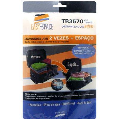 Saco organizador a vácuo travel bag TR3570KIT Easy Space PT 3 UN