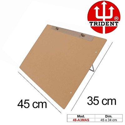 Prancheta MDF A3 c/prend.metálico 48-A3-MAS Trident PT 1 UN