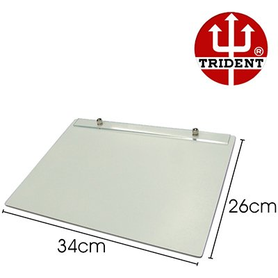Prancheta MDF A4 branca c/prend.metálico 48-A4F Trident PT 1 UN