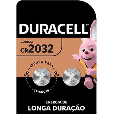 Bateria eletrônica lítio CR2032 - 3 volts 5009886 Duracell BT 2 UN