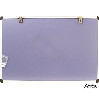 Quadro magnético 60x40 branco moldura alumínio AL-4060MAG Easy Office CX 1 UN