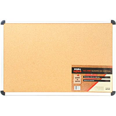 Quadro aviso 60x40 cortiça moldura alumínio ALC-4060 Easy Office PT 1 UN