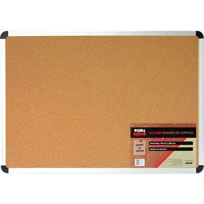Quadro aviso 65x45 cortiça moldura alumínio ALC-4565 Easy Office PT 1 UN