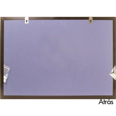 Quadro aviso 65x45 cortiça moldura madeira MDFC-4565 Easy Office PT 1 UN