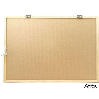 Quadro aviso 65x45 cortiça moldura madeira MAC-4565 Easy Office PT 1 UN