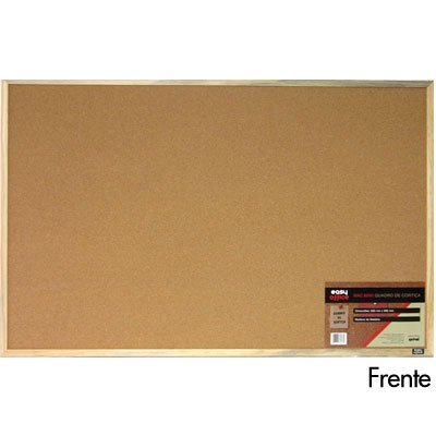 Quadro aviso 90x60 cortiça moldura madeira MAC6090 Easy Office CX 1 UN