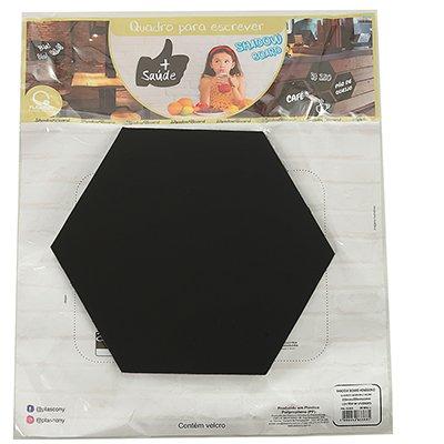 Quadro plástico para escrever Hexagono QVEL Plascony PT 4 UN