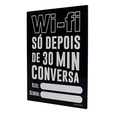 Painel metálico 26x19 Wi-Fi 30 min 81848 Zona Criativa PT 1 UN