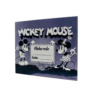 Painel metálico 26x19 Mickey Minnie 81863 Zona Criativa PT 1 UN