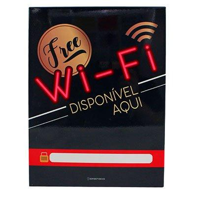 Painel metálico 26x19 Wi-fi Disponí. 81846 Zona Criativa PT 1 UN