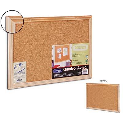 Quadro aviso 90x60 cortiça dupla face moldura madeira Cortiarte PT 1 UN