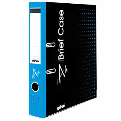 Registrador a/z c/rótulo A4 LE Brief Case azul Spiral Brf PT 1 UN