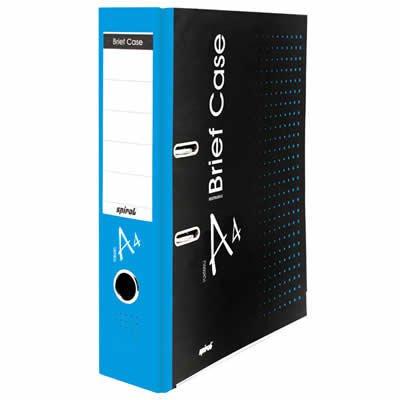 Registrador a/z c/rótulo A4 LL Brief Case azul Spiral Brf PT 1 UN