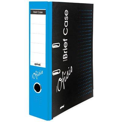 Registrador a/z c/rótulo ofício LL Brief Case azul Spiral Brf PT 1 UN