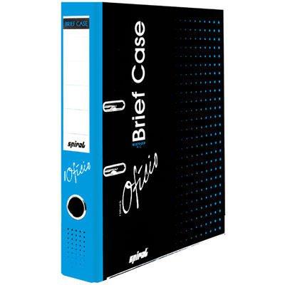 Registrador a/z c/rótulo ofício LE Brief Case azul Spiral Brf PT 1 UN