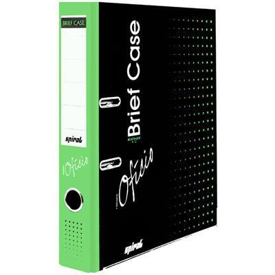 Registrador a/z c/rótulo ofício LE Brief Case  verde Spiral Brf PT 1 UN