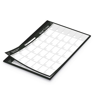Planner mensal214x280mm c/ 24 fl Brief Case 20197 Spiral Brf PT 1 UN