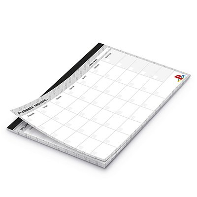 Planner mensal 214x280mm c/ 24 fls Playstation 20207 Spiral Ps PT 1 UN