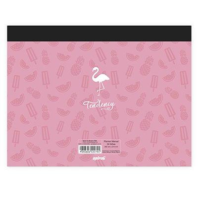 Planner mensal 214x280mm c/ 24 fls Flamingo 20218 Spiral Ten PT 1 UN