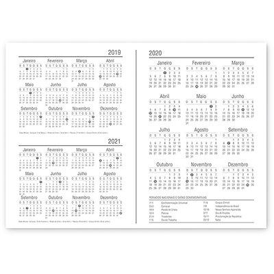 Planner semanal 214x280mm c/ 60f Brief Case 20128 Spiral Brf PT 1 UN