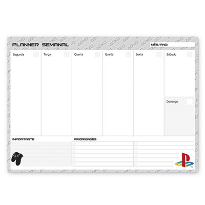 Planner semanal 214x280mm c/ 60 fls Playstation 20138 Spiral Ps PT 1 UN