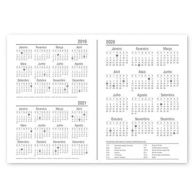 Planner semanal 214x280mm c/ 60 fls Flamingo 20141 Spiral Ten PT 1 UN