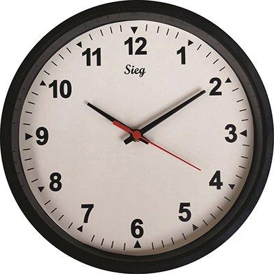 Relógio de Parede 28cm fundo branco 2800-01 Sieg CX 1 UN