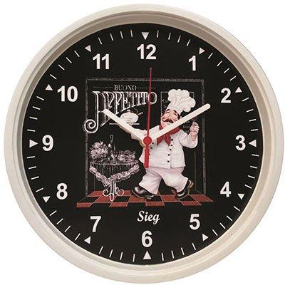 Relógio de Parede 28cm cozinheiro 2805-00 Sieg CX 1 UN