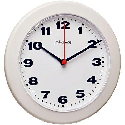 Relógio de Parede 21cm plástico branco 6103-021 Herweg CX 1 UN