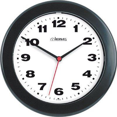 Relógio de Parede 21cm plástico preto 6103-034 Herweg CX 1 UN