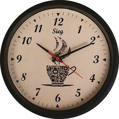 Relógio de Parede redondo 28cm fundo café 2802-01 Sieg CX 1 UN