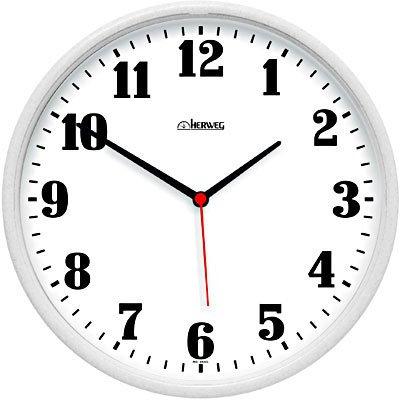 Relógio de Parede 26cm plástico branco 6126-021 Herweg CX 1 UN