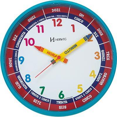 Relógio de Parede 26cm turqueza pantone 6690-267 Herweg CX 1 UN