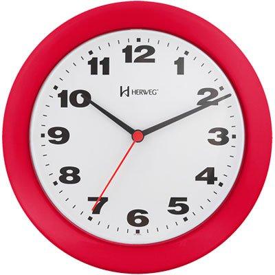 Relógio de Parede 21cm quartz vermelho 6103-269 Herweg CX 1 UN