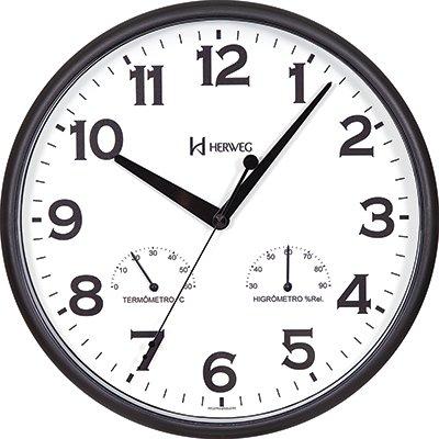 Relógio de Parede 26cm quartz preto 660072-034 Herweg PT 1 UN