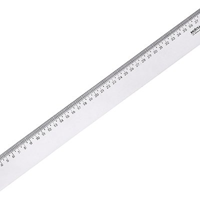 Régua em poliestireno 40 cm cristal new line 10270029 Waleu PT 1 UN