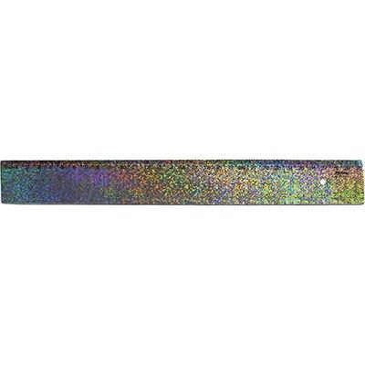 Régua em poliestireno 30 cm holográfica glitter Waleu PT 1 UN