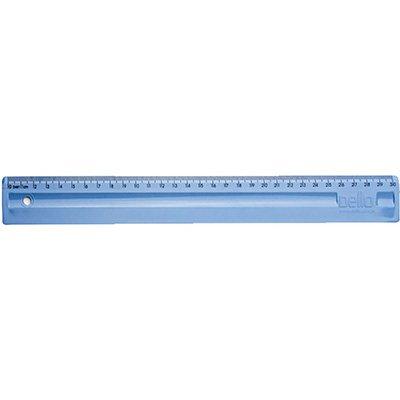 Régua em poliestireno 30 cm azul claro Dello PT 1 UN